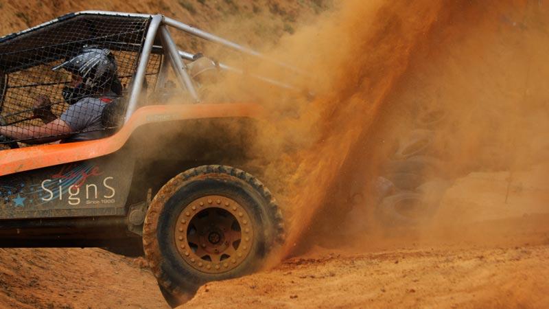UTV buggy spinning tire
