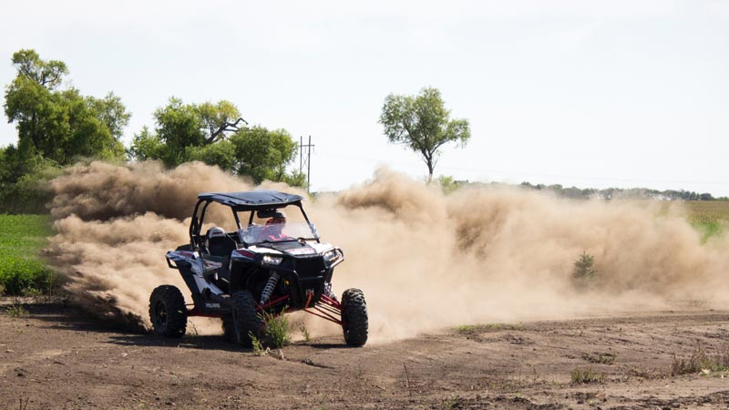Polaris RZR turning